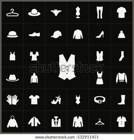 vest icon. clothes icons universal set for web and mobile