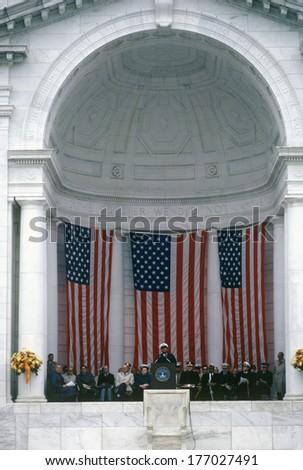 Veteran's Day Ceremony, Arlington National Cemetery, Washington, D.C. - stock photo