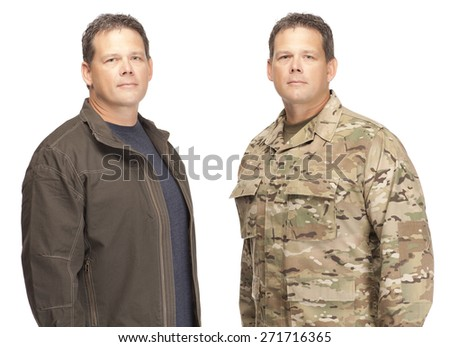 Veteran Soldier Military to Civilian Transition - stock photo