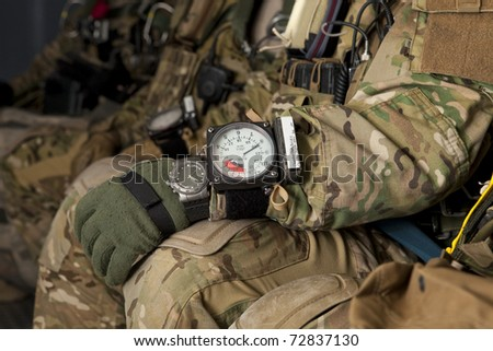 Veteran soldiers Special Forces Paratroopers - stock photo
