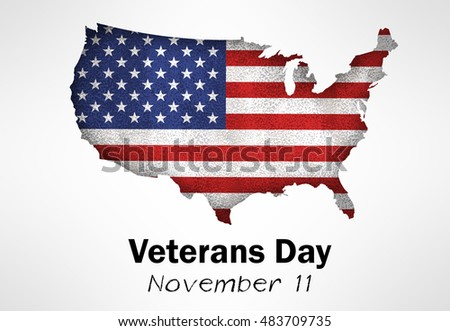 Usa Map Flag On Grey Background Stock Vector 139429154 Shutterstock