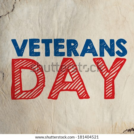Veterans Day banner with a beautiful text - stock photo