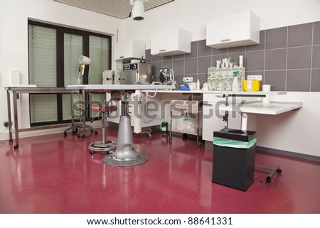 veterinarian operating room - stock photo