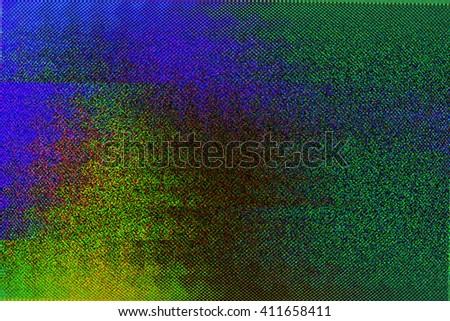 VHS Glitch Backdrop - stock photo