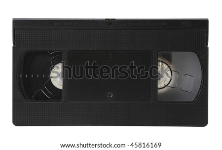 VHS video Tape Isolated on White with clipping path