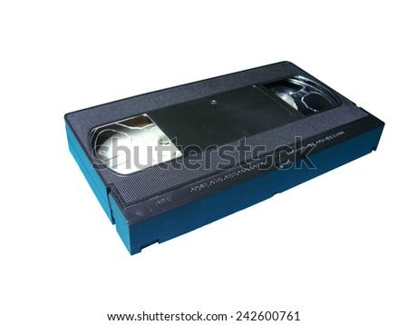 VHS white background - stock photo