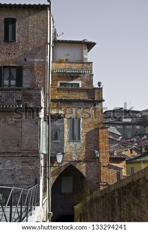 Via Camporegio, Siena - stock photo