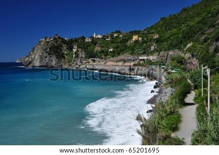 Via dell'amore, Cinque Terre, La Spezia, Italy - stock photo