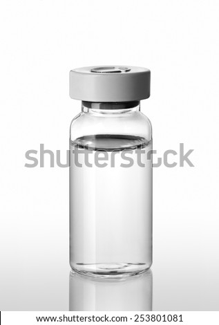 Vial medical isolated on a white background - stock photo
