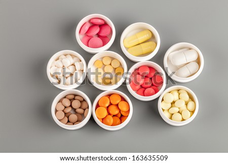 vial with medical drugs  in pack closeup - stock photo