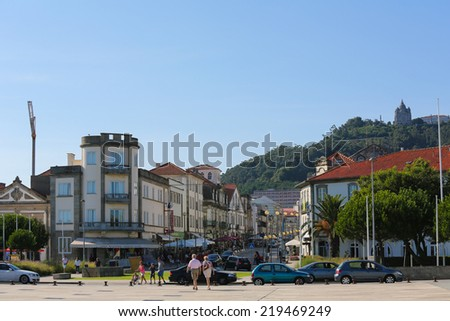 VIANA DO CASTELO, PORTUGAL - AUGUST 4, 2014: The center of Viana do Castelo, Minho region, Portugal.