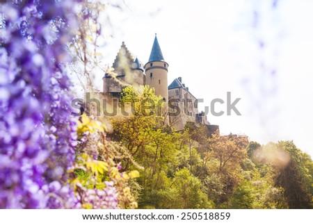 Vianden castle in Luxembourg - stock photo