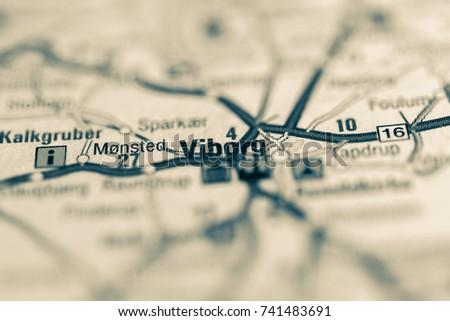 Viborg On Map Stock Photo Royalty Free 741483691 Shutterstock