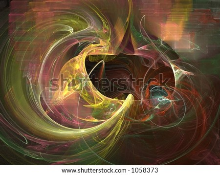 Vibrant abstract, great detailing and depth - stock photo