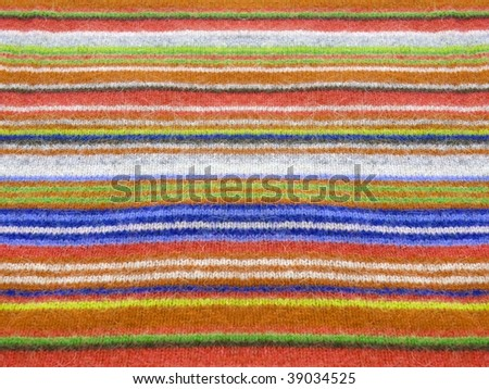 Vibrant alpaca striped texture closeup. More of this motif & more textiles in my port. - stock photo