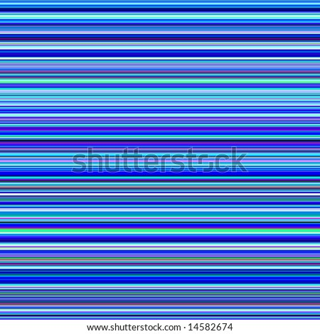 Vibrant blue and psychedelic colors horizontal stripes abstract background. - stock photo