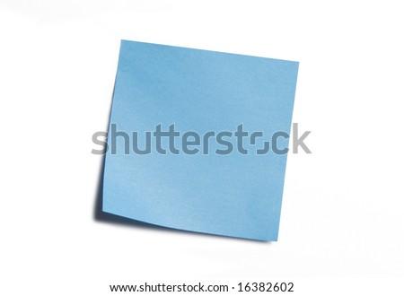 Vibrant Blue Sticky Note - stock photo