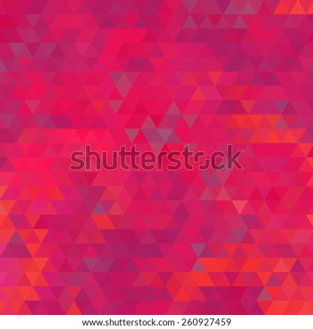 Vibrant bright red abstract geometric background. - stock photo