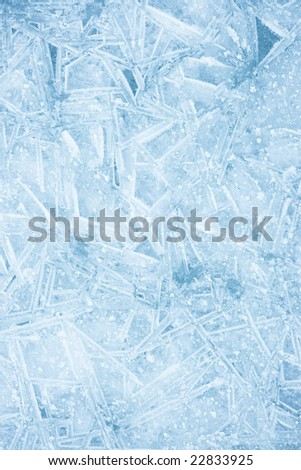 Vibrant color detailed ice texture - stock photo