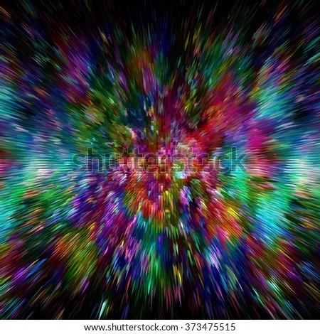 Vibrant Colorful Wallpaper. Creative Colors Explosion - stock photo