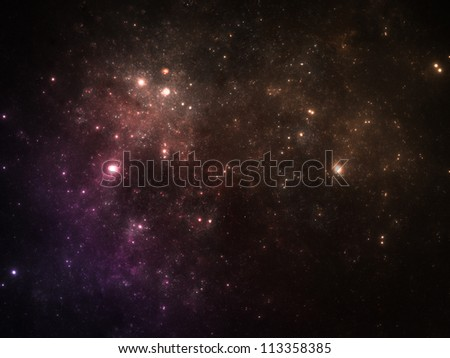 Vibrant colors night sky with stars - stock photo