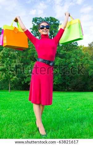 Vibrant Colors of Shopping