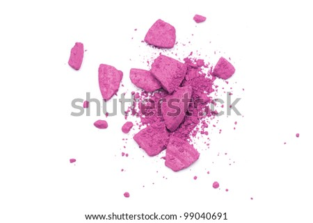 Vibrant pink eyeshadow on white background - stock photo