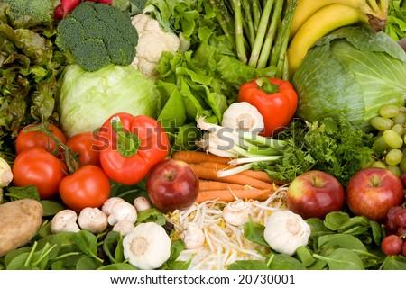 Vibrant Produce Closeup - stock photo