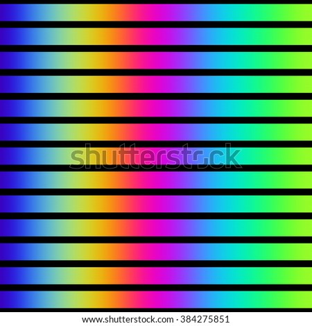 Vibrant rainbow color stripes on black.