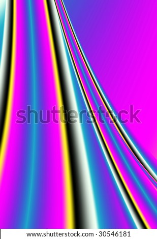 Vibrant sliding gradient in cmyk colors of cyan, magenta, yellow, and black represents printing industry color inks. - stock photo