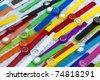 Vibrant wristwatches - stock photo