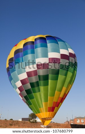 Vibrantly colored balloon