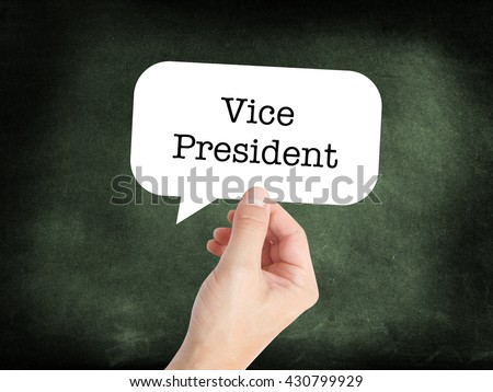 Vice President written in a speechbubble