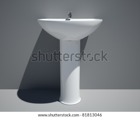 vicenta sink front view - stock photo