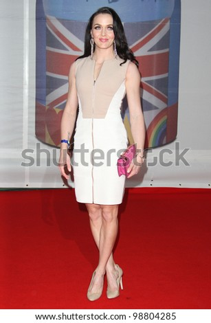 Vicky Pendleton arriving for the 2012 Brit Awards, at the O2 Arena, London. 21/02/2012 Picture by: Henry Harris / Featureflash - stock photo