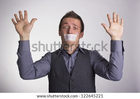 Victim circumstances.Man why need help. - stock photo