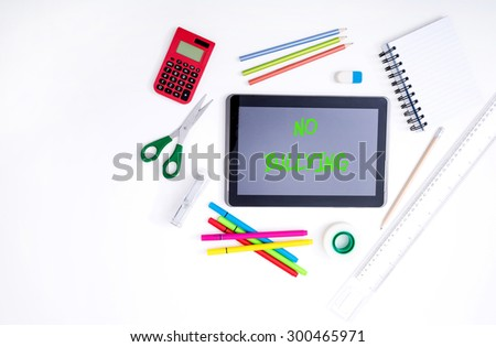 Victim of bullying on line - stock photo