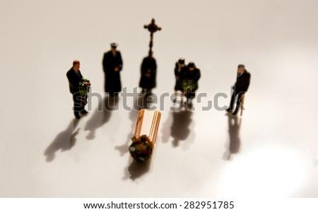 Victim's Funeral - stock photo