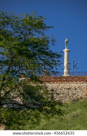 Victor monument shot in Belgrade, Serbia - stock photo