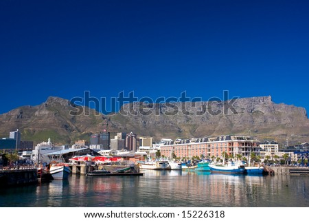 Victoria & Alfred Waterfront in Cape Town South Africa - stock photo