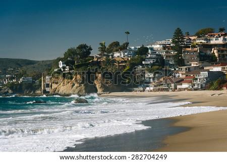Victoria Beach, in Laguna Beach, California. - stock photo