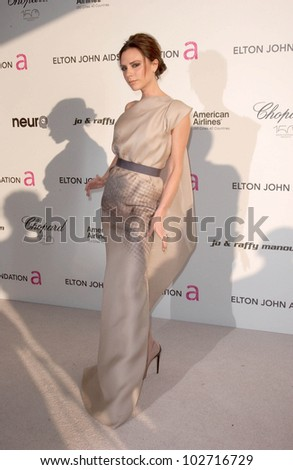 Victoria Beckham  at the 18th Annual Elton John AIDS Foundation Oscar Viewing Party, Pacific Design Center, West Hollywood, CA. 03-07-10 - stock photo