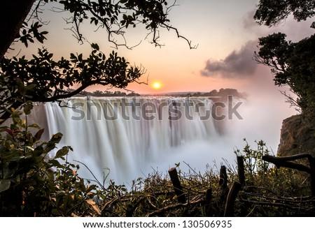 Victoria falls. - stock photo