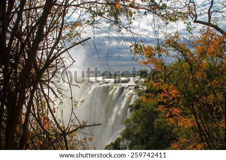 Victoria falls - stock photo