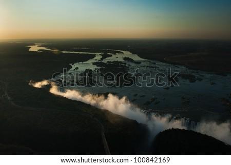 Victoria Falls, Zambia, Africa - stock photo