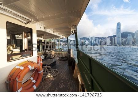 Victoria Harbor of Hong Kong - stock photo