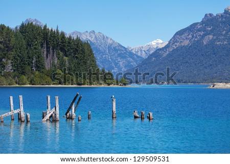 Victoria Island on Lake Nahuel Huapi, Bariloche, Patagonia, Argentina - stock photo