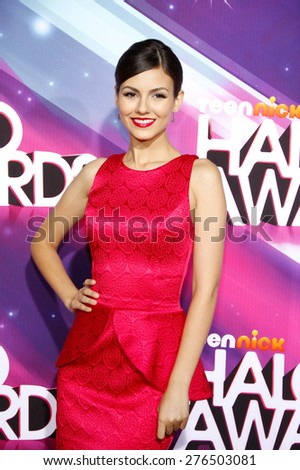 Victoria Justice at the  2012 Halo Awards held at the Hollywood Palladium in Hollywood on November 17, 2012.  - stock photo
