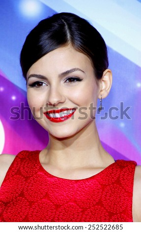 Victoria Justice at the 2012 TeenNick HALO Awards held at the Hollywood Palladium in Los Angeles, California, United States on November 17, 2012. - stock photo