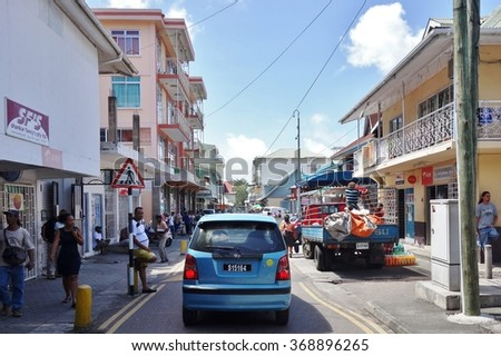 VICTORIA, MAHE, SEYCHELLES -13 JULY 2015- The town of Victoria, on the Mahe island, is the capital of the Seychelles. The city used to be the seat of the British colonial government.